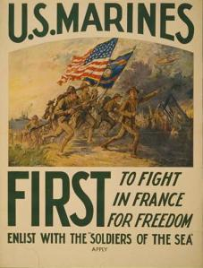 WW1NavyUSMC-Poster04charging